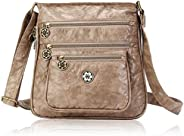 Angel Barcelo Woman Crossover Purse and Handbags Soft Leather Handbags Satchel Shoulder Purse for Girls