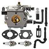 Allong WT-194 Carburetor with Air Filter Spark Plug Tune Up Kit for Stihl 024 026 MS240 MS260 Walbro WT194 Chainsaws