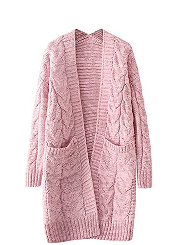 SOOPO Womens Long Sleeve Plus-Size Pullover Fleece Hoodie Sweatshirt Midi Dress (XL)