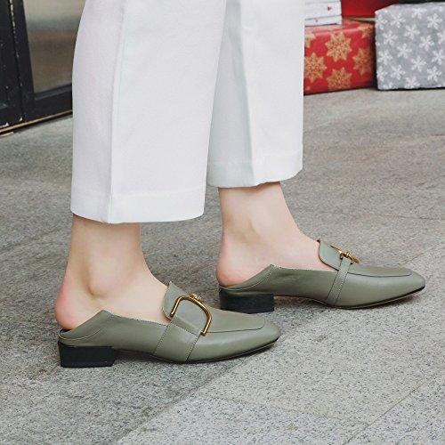 MUYII Head Neue Freizeitschuhe Flachen Schuhe Für Square Flache Frauen Mund Frauen qSawqFr