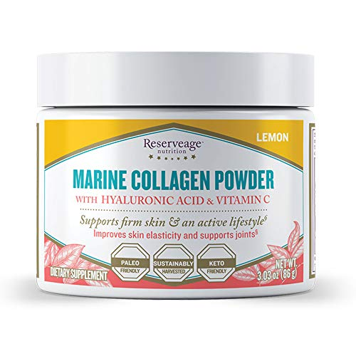 - Reserveage - Marine Collagen Powder with Hyaluronic Acid and Vitamin C, Natural Dietary Supplement Support for Skin, Joints and Bones, 3.03 oz (30 Servings)