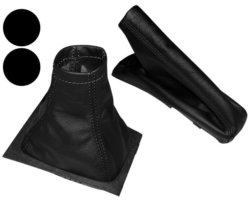 Aerzetix Gear Shift Lever Bellows and Hand Brake Gaiter 100/% Genuine Leather Covers with Black Stitching