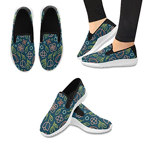Beautiful Fashion Valentines Loafer Day Canvas On Slip Multi Flower Sneakers Womens 1 Floral Tulip Shoes InterestPrint dnW7qCd