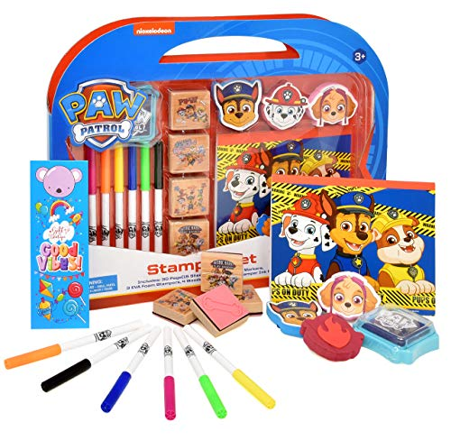 Gift-Boutique-Paw-Patrol-Coloring-Stamper-and-Activity-Set-Mess-Free-Craft-Kit-for-Toddlers-and-Kids-Drawing-Art-Supplies-Included-Sketch-Book-Bookmark-3-Foam-and-4-Wooden-Stampers