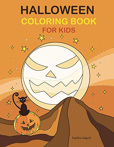 Halloween Coloring Book for Kids: Large Print Coloring Activity Book for Children and -