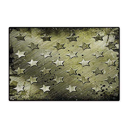 Mop Star Marine (Grunge Bath Mats Carpet Grunge Effect with Carving Art Style Star Patterns Marine Themed Industrial Illustration Customize Door mats for Home Mat 24