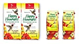 EZNectar Hummingbird Ready-to-Use Nectar 33.8 oz Refill (2) and 11 oz. Fast-Feeder (2) Combo Pack, 89 fl. oz, 4 Piece