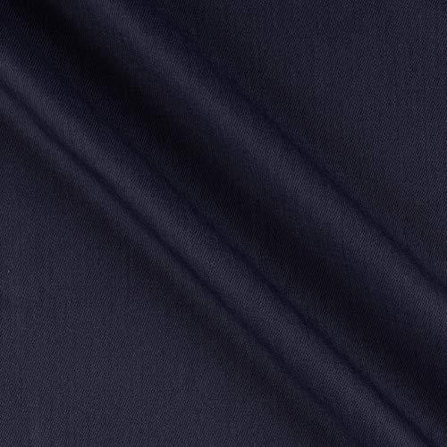(Tuva Textiles Solid Wool Blend Twill Fabric, Medium Blue, Fabric By The Yard)