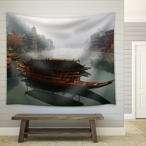 Landscape on the River Fenghuang Hunan China Fabric Wall