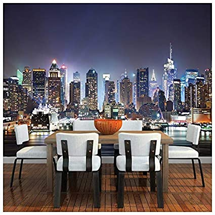 Azutura New York City Wall Mural Skyscraper Skyline Photo Wallpaper Bedroom Home Decor Available In 8 Sizes X Small Digital