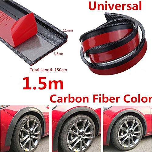 FidgetFidget 3.8cm/1.5M Rubber Car Fender Flare Wheel Eyebrow T Protector Lip GL