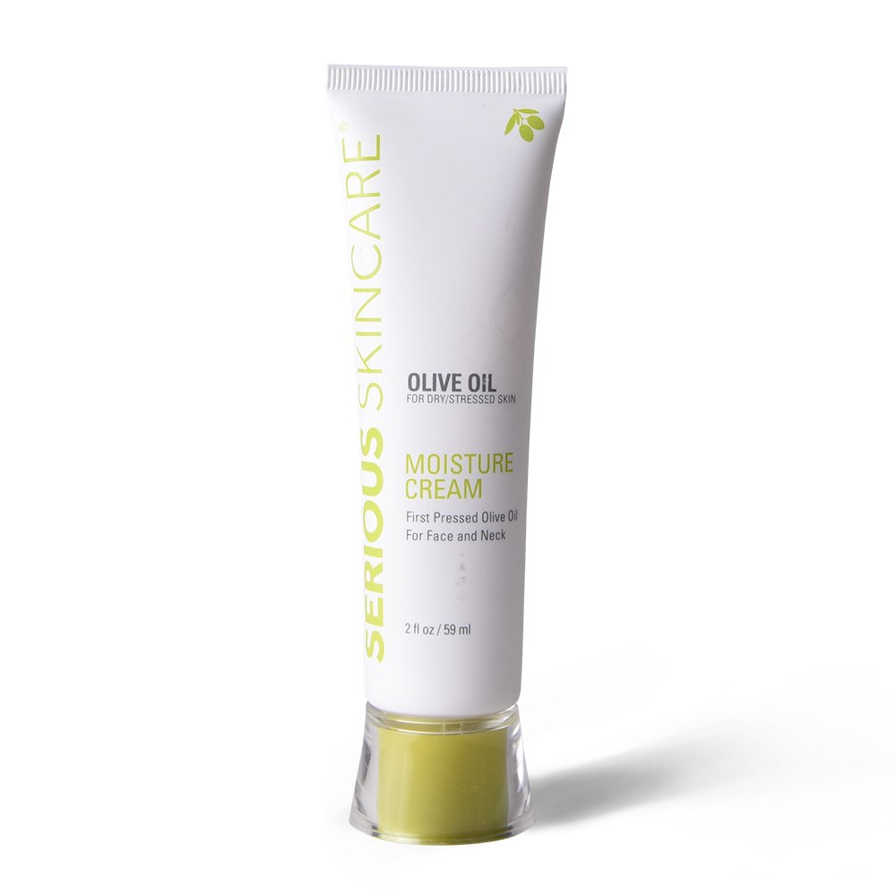Serious Skincare Olive Oil Moisture Cream For Face And Neck, 2 Ounce