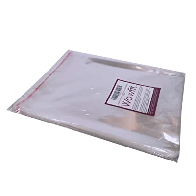 Wowfit 200 CT 5x7 inches Clear Cello Cellophane Plastic Bags Re-Sealable Self-S