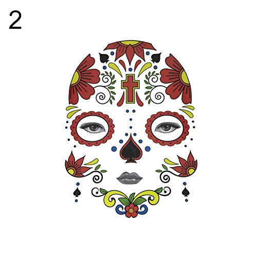 gainvictorlf Halloween Temporary Tattoo Face Sticker Cosplay Masquerade
