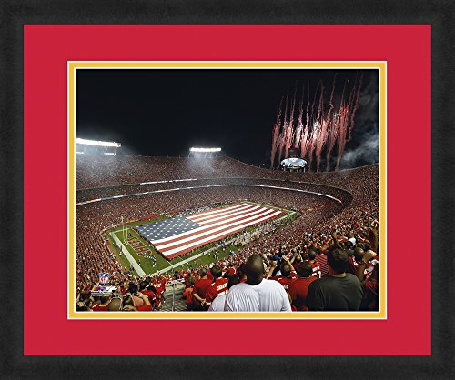 NFL Kansas City Chiefs Arrowhead Stadium, Beautifully Framed and Double Matted, 18
