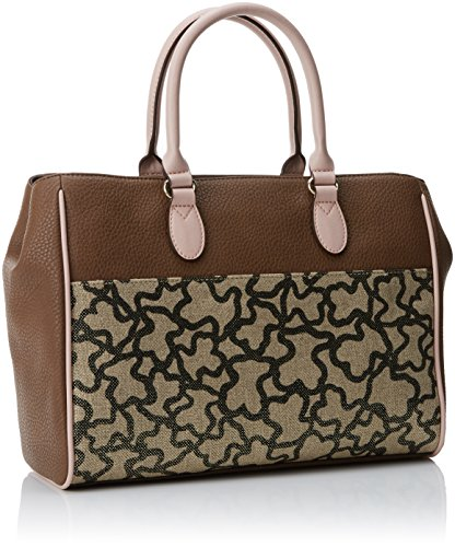 Tous Damen City Elice New Tote, Mehrfarbig (Marrón-Rosa), 12x24x32 centimeters