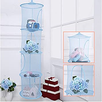 Attirant Lecent@ Mesh Hanging Storage, Multifunctional 4 Compartments Hanging Mesh  Portable Travel Folding Kids Toy