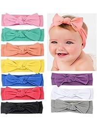 Baby Girl's Kink Soft Headband Cotton Elastic Hair Band...