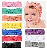 DANMY Baby Girl's Kink Soft Headband Cotton Elastic Hair Band Big Spiral Knot Soft Turban Bow (Bow kont(as Shown))
