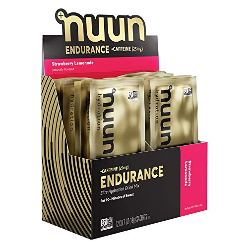Nuun Endurance Hydration Drink Mix: Strawberry Lemonade + Caffeine,12 Servings