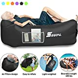 SEGOAL Inflatable Lounger Air Sofa Pouch Inflatable Couch Air Chair Hammock with Pillow Portable Waterproof Anti-Air Leaking for Outdoor Camping Hiking Travel Pool Beach Picnic Backyard Lakeside
