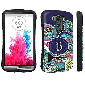 DuroCase ? LG G3 Kickstand Case - (Mint Flower Monogram B)