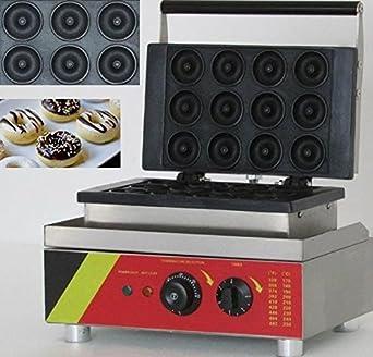 12 pcs eléctrico Sweet eléctrica en forma de rosquilla Donuts tarta utensilio cocina utensilio de hierro