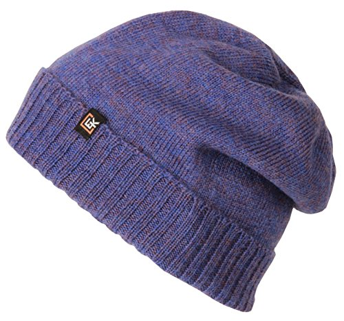 Evolution Knitwear 100% Wool Classic Knit Beanie Hat Cap for Women & Men (Periwinkle)