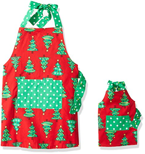 Dollie & Me Girls' Little Apron Set, Red/Multi, One Size