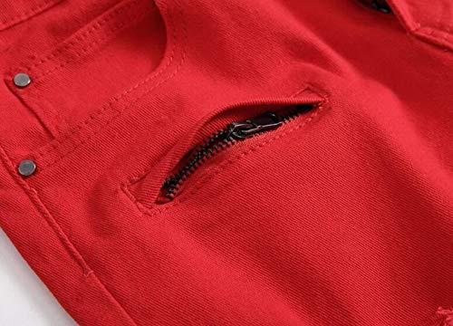 Ligne De Vêtements Pour Lannister Fashion Et Le High Droite Hommes Deux La Street Confortables Loisirs Pantalon Surf 2 Modèles rot Plage Fête Trou Shorts AXAqx4