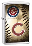 Zippo MLB Chicago Cubs Brushed Chrome Lighter
