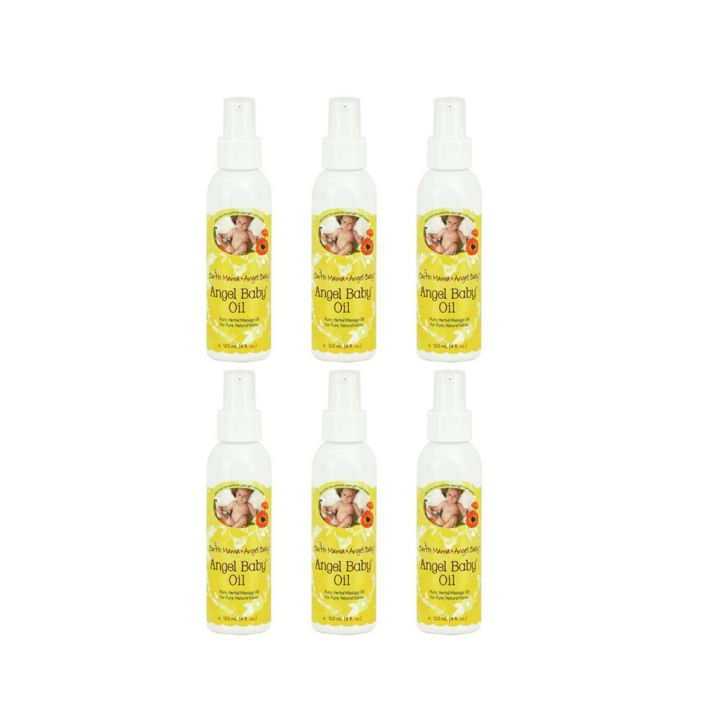 Earth Mama Angel Baby 4-ounce Angel Baby Oil (6 Pack)