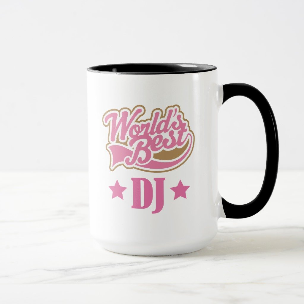 Zazzle DJ Disc Jockeyギフト( Worlds Best ) Travel Mug 15 oz, Combo Mug ブラック bc4006b6-7526-414e-2f79-ec110e97948d 15 oz, Combo Mug ブラック B078F6YP54