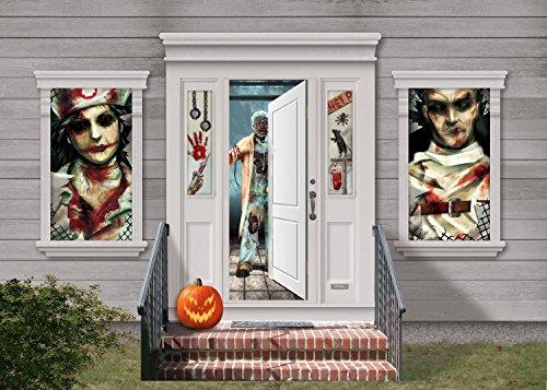 Halloween Asylum Horror Party Door Window Decorating Pack Kit