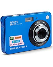 "AbergBest 21 Mega Pixels 2.7"" LCD Rechargeable HD Digital Camera Video Camera Digital Students Cameras,Indoor Outdoor for Adult/Seniors/Kid (Blue) photo"