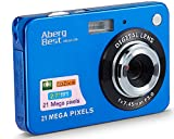 AbergBest 21 Mega Pixels 2.7' LCD Rechargeable HD Digital Camera Video Camera Digital Students Cameras,Indoor Outdoor for Adult/Seniors/Kid (Blue)