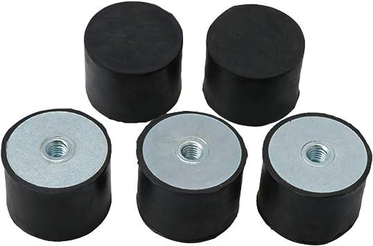 nuevo 40*40*M8 M8 DD Tipo de Goma Anti Vibration bloque de base de montaje silentblock 2 un