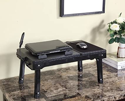 Multifunctional Laptop Table Stand With Cooling Fan U0026 USB Ports