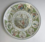 Wedgwood China PETER RABBIT 1989 Happy Birthday Plate EXCELLENT