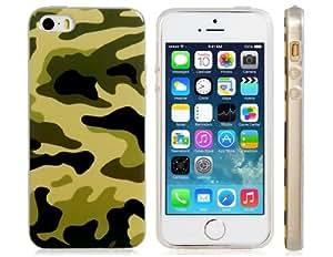 CECT STOCK Caja de goma del camuflaje de impresión TPU para el iPhone 5S / 5