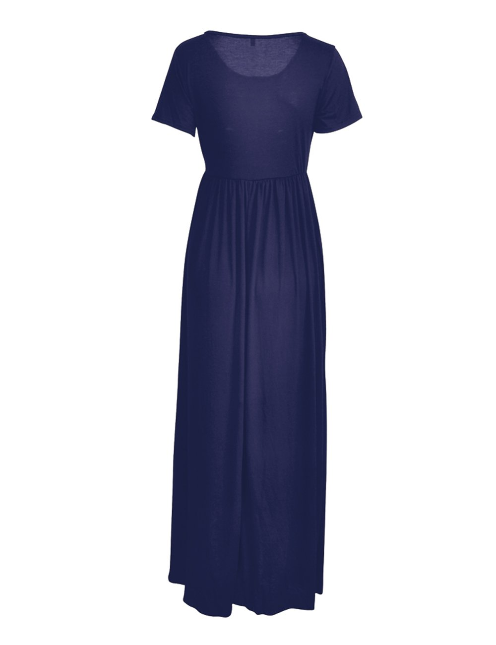 ORQ Women's Short Sleeve Loose Plain Casual Long Maxi Tunic Dress With Pockets by ORQ (Image #6)