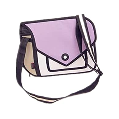 YQWEL D Style D Drawing Cartoon Handbag Shoulder Canvas - Cartoon handbags