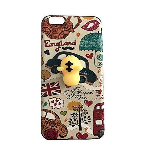 Pinzhi Pinzhi 3D Nizza Weiche Silikon Pappy Squishy Katze für iPhone 6 Plus Case Gelb Hull Handy Shell Stil