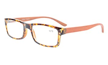 b9c5e083af8 Eyekepper Quality Spring Hinges Wood Arms Mens Womens Reading Glasses  Tortoiseshell +2.75