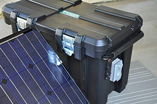Portable 2500 Watt 200Ah Solar Generator & Two 150 Watt Solar Panels Be Prepared Solar Solar Power And Accessories