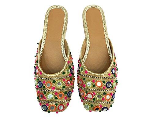 Trinn N Stil Damene Indisk Bollywood Brude Sko Hæler Sandaler Slip Ons  Khussa Juti ...