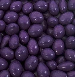 Dark Purple Chocolate Jordan Almonds 1LB Bag