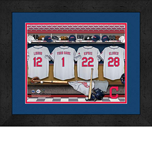 Cleveland Indians Personalized MLB Baseball Locker Room Jersey Framed Print 14x18 Inches