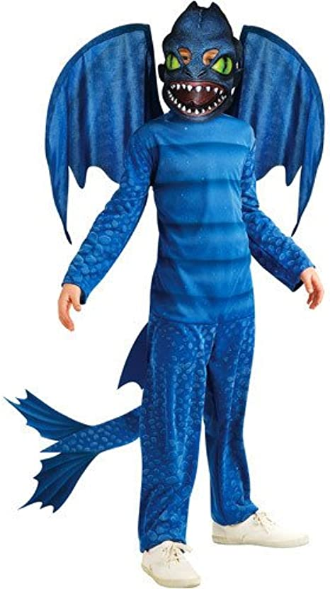 Amazon Com How To Train Your Dragon Night Fury Child Halloween Costume Size M 7 8 Medium Clothing