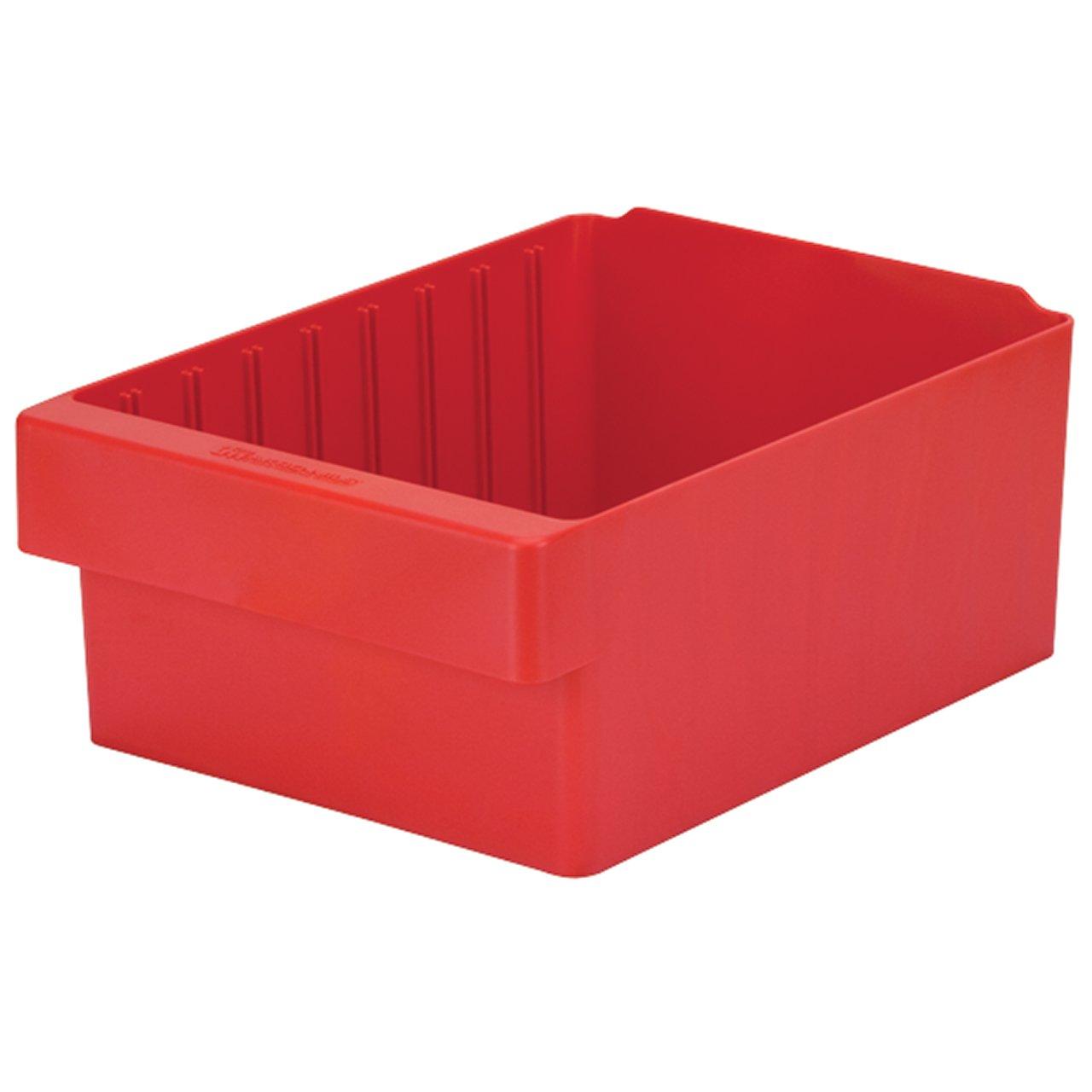 Akro-Mils 31182 AkroDrawer Plastic Storage Drawer, 11-5/8''L x 8-3/8'' W x 4-5/8 H, Red, Case of 4
